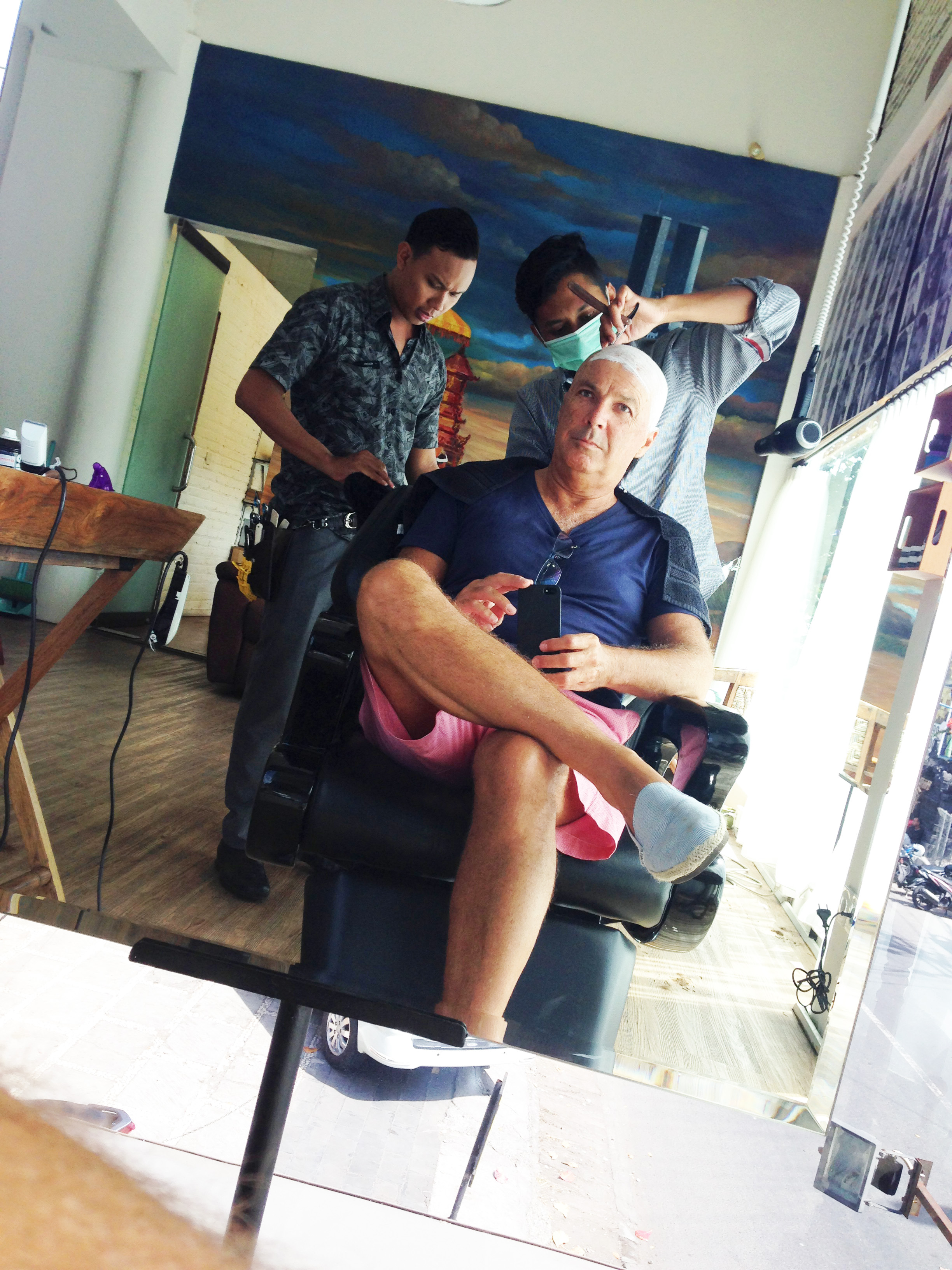 A  close shave at the barber of Bali