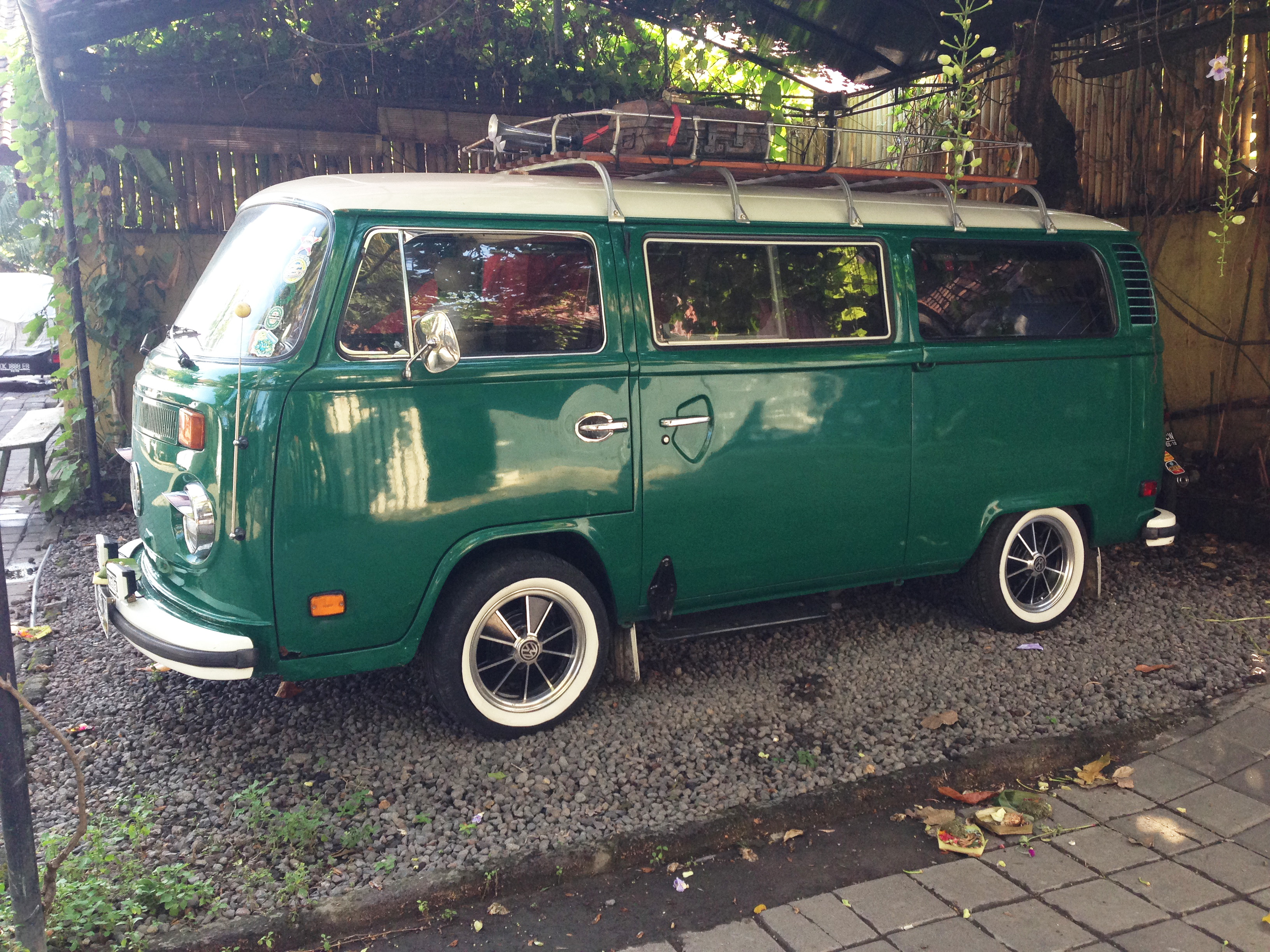 Classic Kombi Van tucked away In the  back streets of Kuta